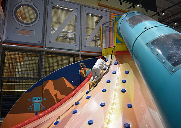 Volcano Slide Indoor Playground1
